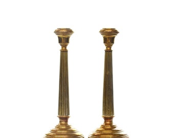 Tall Brass Pillar-Style Candlestick Holders *FREE SHIPPING*