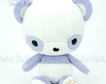 """Bellzi® Cute Panda Plush Stuffed Animal Toy """"Purple"""" White Contrast Plushie - Pandi"""