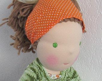 """OOAK, Organic Waldorf doll, Waldorf inspired doll, 18"""", soft doll, fabric doll, cloth doll"""