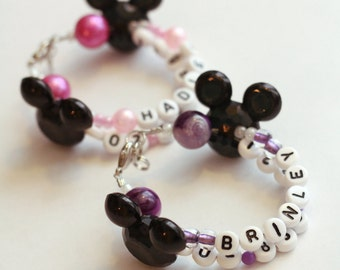 Name and Phone Number I D Bracelet ~ Disney/Mickey/Minnie theme
