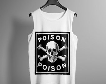 Mens Poison Tank Top - Occult Tank - Occult Print Graphic Tank - Graphic Tee - Graphic Tank Top - Occult Shirt