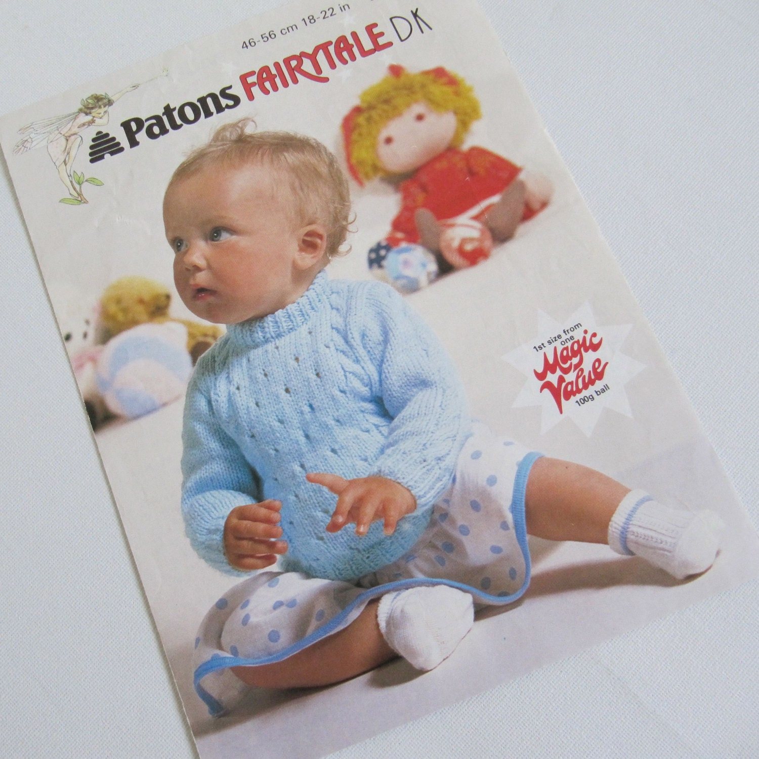 Vintage Baby Knitting Pattern Sweater Patons B 7632 18 to 22