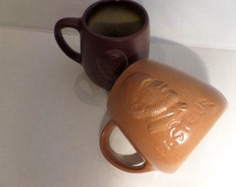 Vintage Coffee Mugs Pasteur Galen Stoneware Science Medical Theorist