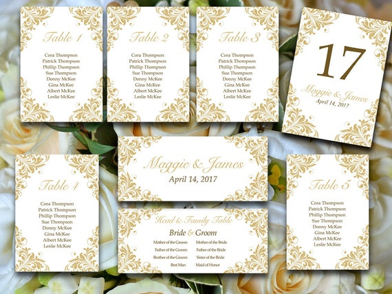 Printable Wedding Seating Chart Template Wedding Reception