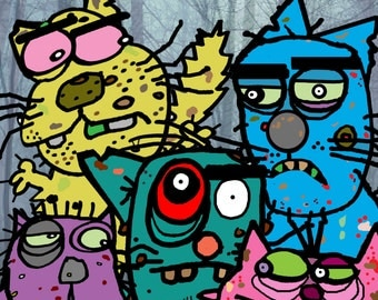 Zombie Cats Poster 11 X 17