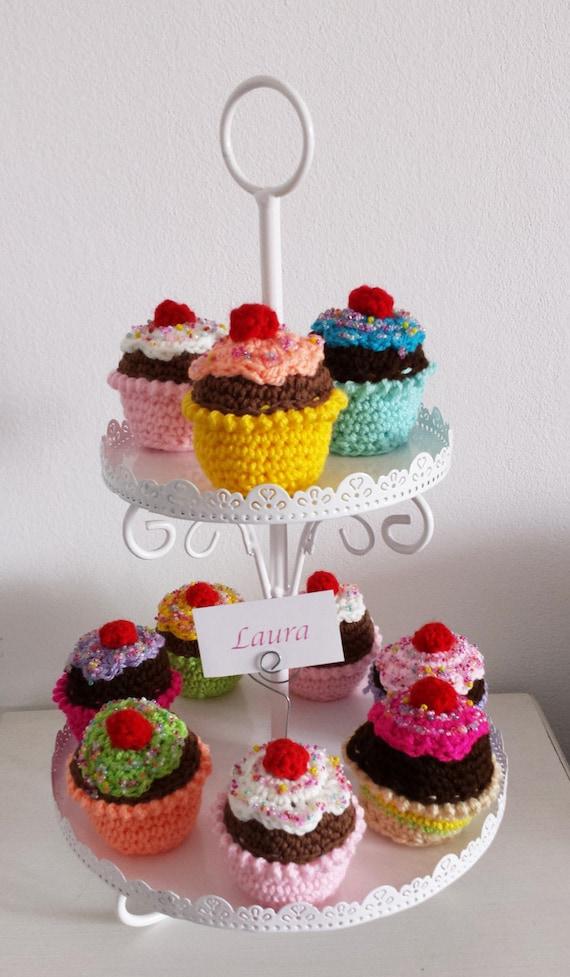 Matrimonio Tema Uncinetto : Cupcakes segnaposto porta foto uncinetto matrimonio