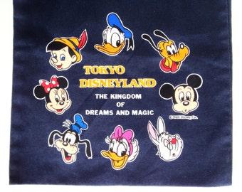 Vintage Tokyo Disneyland Draw String Bag