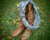Women's Multi-Shades of Grey Cowl Circle Scarf