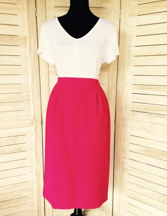 high waisted pink skirt pencil skirt