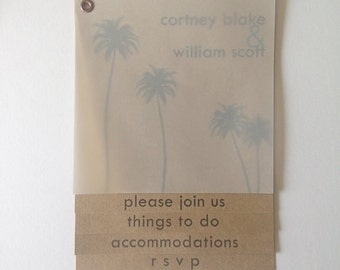 4 Page - Booklet Wedding Invitation Suite - Beach Theme - Custom Designed