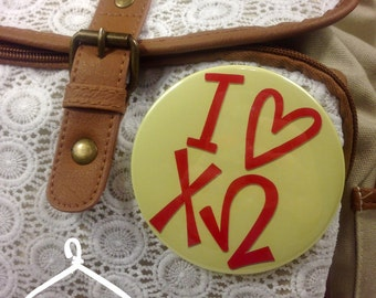 I {Heart} Chi Omega Button or Magnet