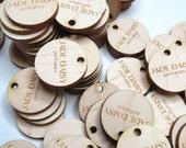 100 - 1x1 Custom Wood Tags - Custom Knitting Tags - Personalized Tags