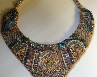 SOLD. Bead Embroidery Collar.