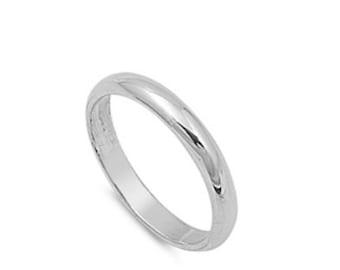 Silver Engagement Band - Silver Wedding Band - Sterling Silver Band - Silver Wedding Ring - Silver Ring - Sterling Band - Engagement Ring