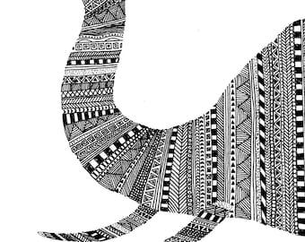 Tribal Elephant Print