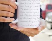 Wedding Vows Printed Onto Mug 11oz