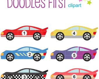 Race car clipart | Etsy