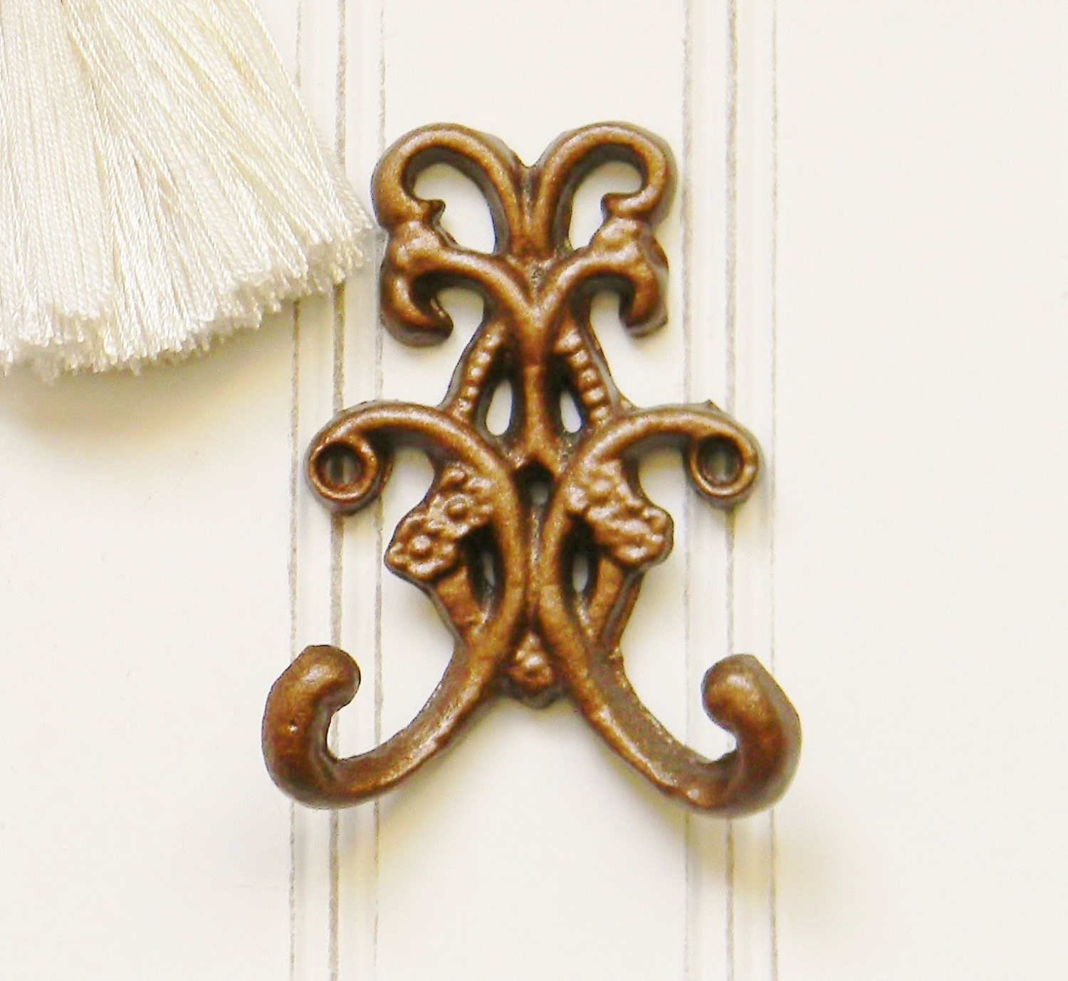 wall hook decorative wall hooks double wall hook floral With decorative wall hooks