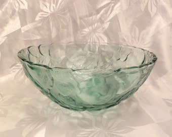 Libbey Rock Sharpe Salad Bowl in the Orchard Fruit Pattern - Pristine Condition!