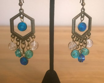 Lego Chandelier Earrings, Honeycomb