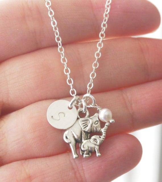 elephant charm necklace personalized elephant jewelry new