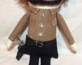 """Creepy n Cute Zombie Doll - """"Rick Grimes"""" - Inspired by TWD (D)"""