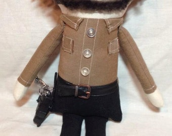 "Creepy n Cute Zombie Doll - ""Rick Grimes"" - Inspired by TWD (D)"