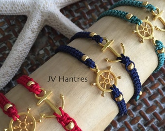 Anchor / Ship Wheel Macrame Set - QTY 2