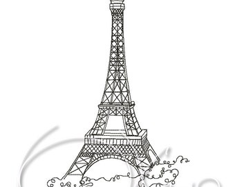 MACHINE EMBROIDERY DESIGN - Paris, city embroidery design, World cities embroidery, Eiffel Tower embroidery design