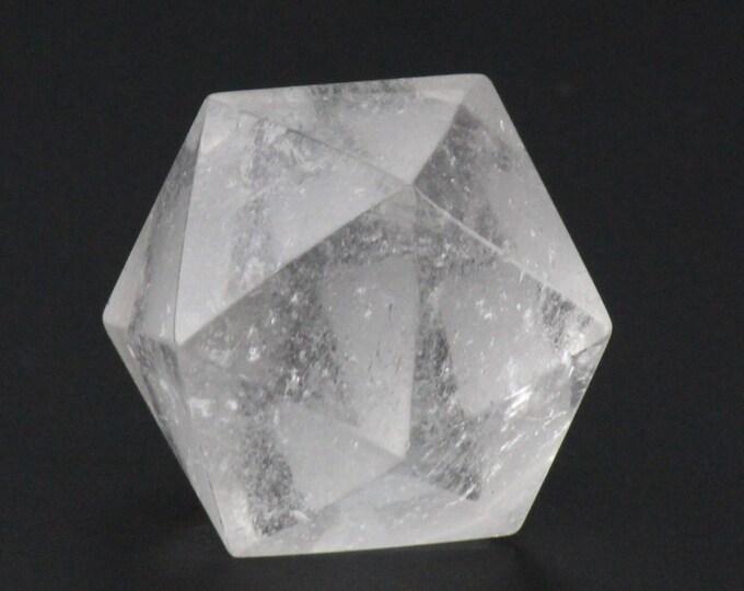 Quartz Crystal, Metatron's Cube, Icosahedron Plutonic Solid