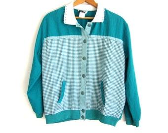 Vintage, Teddi Brand, Woman's Long Sleeve Shirt
