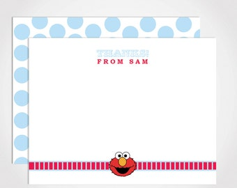 Elmo Thank You Card Set / Kids Elmo Notecard Set