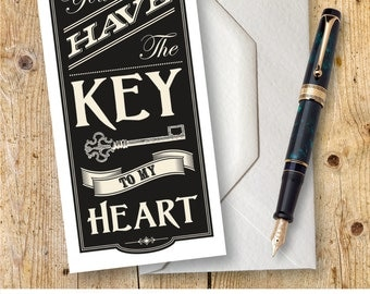 Key To My Heart Valentine Card