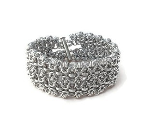 Rondo Ornatica Chainmaille Bracelet - Intricate, Elegant Chainmaille Cuff Bracelet