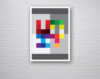 UNIT - Geometric Graphic Art Poster Contemporary Abstract Modern