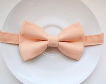 B079 Very lovely ice Peach bow tie For baby/Toddler/Teen/Adult/with Adjust strap/Clip on