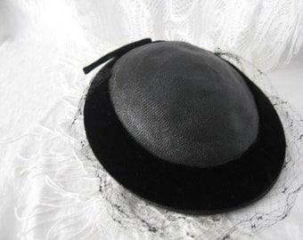 Little Black Vintage Hat