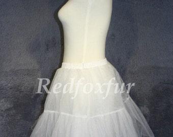 Knee-length bridesmaid lining, white petticoat dance, dance dance skirt length skirt lining TUTU