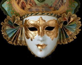 Venetian Mask | Casanova With Venice Drawing