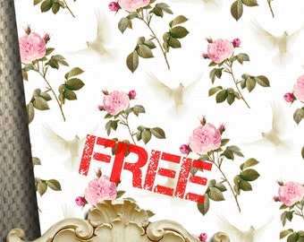 FREEBIE - Do not Purchase Free Download - WEDDING - Printable wrapping paper for Scrapbooking, Creat - Download and Print