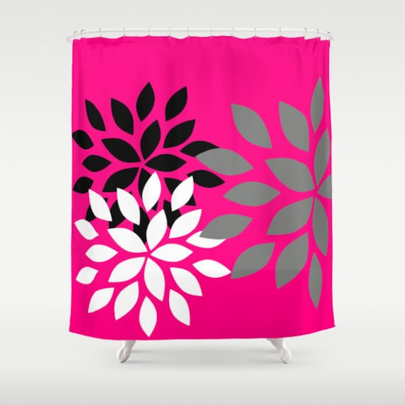 Pink And Black Shower Curtain   Home Decor   Eventasaur.us