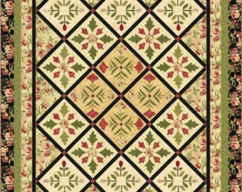 "An English Garden quilt kit 66"" x 81"""