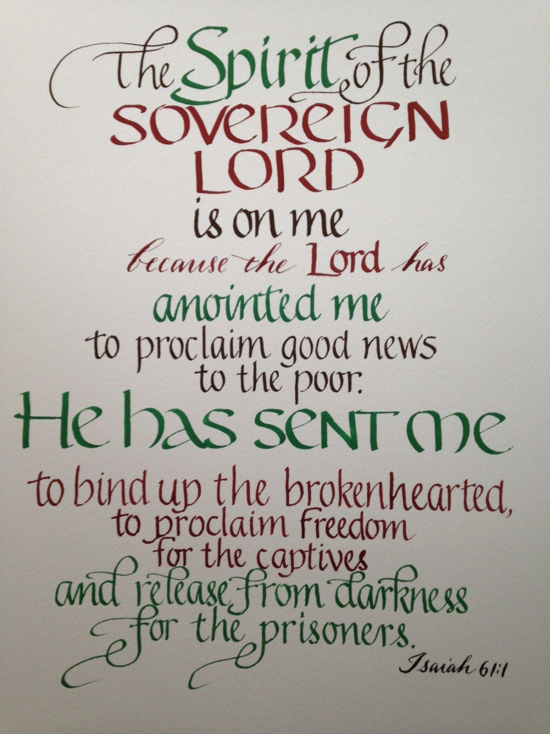 Isaiah 61 1 Ordination Gift Seminary By Biblecalligraphy