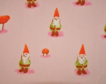 Heather Ross  - Munki Munki Pink Gnome Leg Panel Z - Cotton Poplin Fabric
