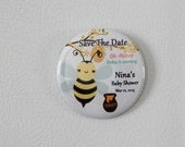20 magnets,honey bee baby shower save the date,bumble bee baby shower,baby shower thank you magnets,bumble bee first birthday,