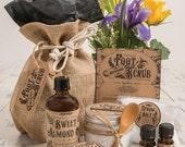 DIY Spa Gift Set - Lavender & Peppermint Foot Scrub Kit (optional personalisation)