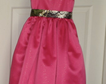 Camo Flower Girl Dress Made To Order