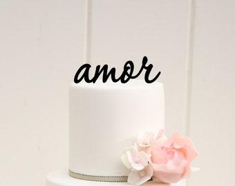 AMOR Wedding Cake Topper Custom Design
