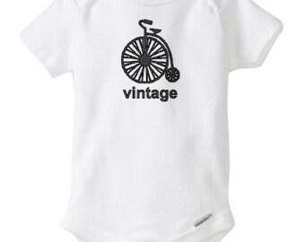 baby boy onesie, vintage, baby boy, onesie, bicycle