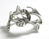 Sterling Silver Vine ring - leaf and vine ring leaf vine ring crown of thorns ring thorn ring leaf ring sterling silver leaf ring vines ring